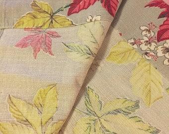 Vintage 1950's Barkcloth Curtains!
