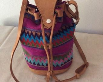 Vintage Hand Woven HOBO  Shoulder Bag/ Tribal/ Boho
