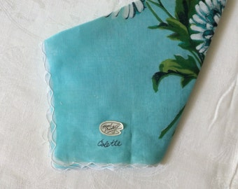Hand Painted DAISY Hankie by Colette/ NWT