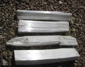 Fireplace Selenite logs 4 Extra long large crystal Logs - ALL INCLUDED - free shipping usa