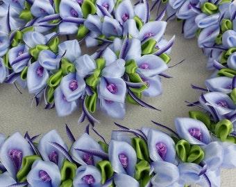 Wild orchid hawaiian flower lei
