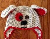 Crochet Baby Hat, Crochet Child hat, Crochet Toddler hat, Winter Accessories, Newborn Boy Girl Dog Photo Prop