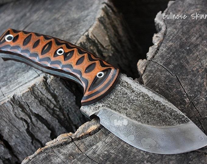 Handmade FOF Bullnose skinning and hunting survival knife