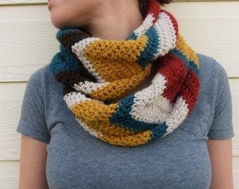 Crochet Chevron Infinity Scarf- PATTERN ONLY