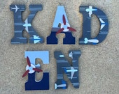 Wooden Airplane Letters -...