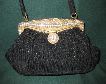 Vintage Beaded E. Grillot French Evening Bag #1228