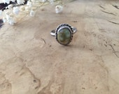 Vintage Sterling Silver + Authentic Native American + Natural Jasper Stone Ring