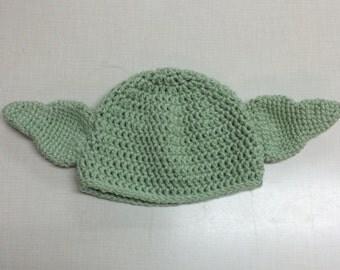 Star Wars Crochet Yoda hat newborn-child-teen-adult