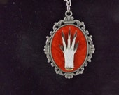 Ornate Squirrel Paw Taxidermy Necklace