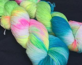Chrysilis hand dyed merino sock yarn