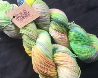 Sourz hand dyed merino sock yarn