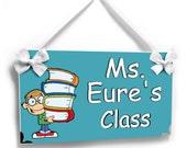 personalized door sign teachers classroom decor -the library sign - class school decor - P225
