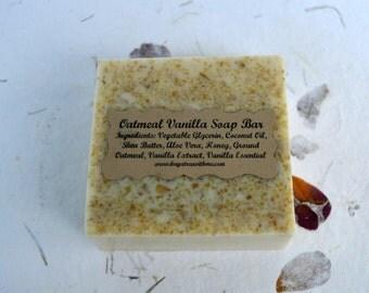 Oatmeal Vanilla Soap Bar, Glycerin Soap, Vanilla Soap, Oatmeal Soap, Soap for Dry Skin, Itchy Skin Soap, All Natural Soap, Bath and Body