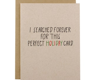 Funny Holiday Cards - The Perfect Holiday Card - Perfect Christmas Card - Funny Christmas Card Pack - Dry Humor