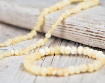 Polished Baltic Amber teething necklace and bracelet