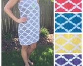 Size XL-XXL: Gray and White Quatrefoil Spa Wrap/ Bath Wrap/ Towel Wrap/ Bridesmaid Gift