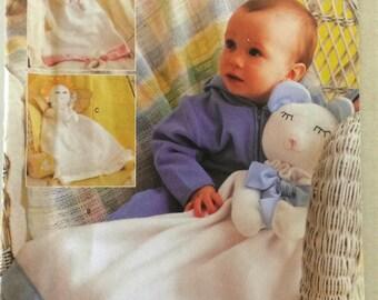 "Butterick 3231 Pattern Adorable Blanket ""Lovey"" UNCUT"