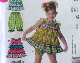McCalls M6270 CF 4-5-6 Ruffle Tops, Bottoms and Dresses Pattern  UNCUT