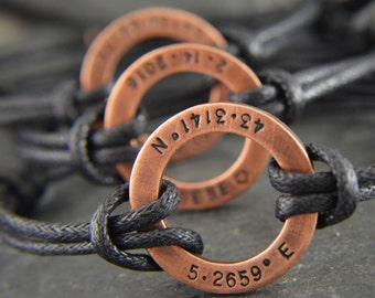 Custom coordinates, Coordinates, Coordinate bracelet, Husband gift, Coordinate jewelry, Coordinates gift, Custom coordinates, Coordinate