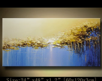 Abstract Large ORIGINAL Painting Modern Textured Painting,  Palette Knife, Home wall art Decor, acrylic art Painting on Canvas  by Chen hh72