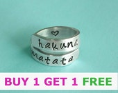 Hakuna matata,personalized rings,bff,best friends rings.43