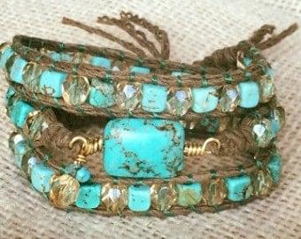 Happy Birthday hemp bracelet
