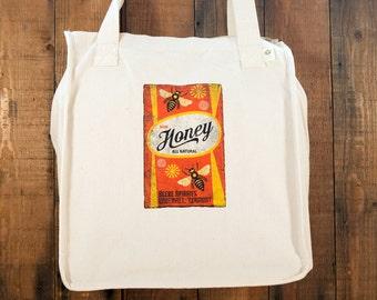 Honey Label Tote Bag