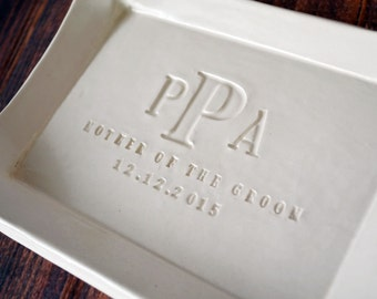 Mother of the Bride and Mother of the Groom Gift - Set of 2 - Small Platter or Tray - Gift Boxed and Ready to Give