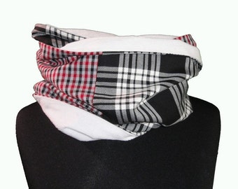 """Infinity scarf / Man Neck scarf /  Man snood one of a kind Christmas gift for men """"Bart"""""""
