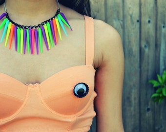 Neon Spiked Necklace