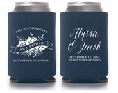 Something Old, New, Borrowed and Brewed, Wedding Favors, Wedding Can Cooler, Floral Bouquet, Custom Wedding Drinkware (T355)