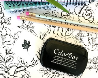 Black Ink Pad, Permanent - Colorbox Archival Dye Ink pad in Wicked Black