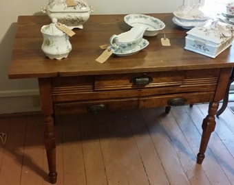 Gorgeous Antique Possum Belly Bakers Table - SHIPPING is Not FREE! - Contact for Shipping Quote