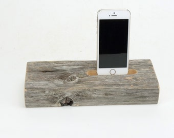 Docking Station for iPhone, iPhone dock, iPhone Charger, iPhone Charging Station, iPhone driftwood dock, wood iPhone dock/ Driftwood-No. 900