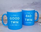 GOOD/BAD TWIN Satin Coated Mug