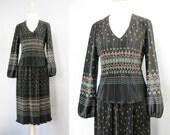 Floral Print Dress / Vtg ...