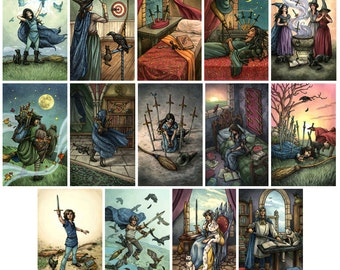Prints - Everyday Witch Tarot - Choose from Suit of Swords