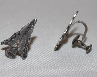 Sterling Silver Indian Arrowhead Earrings