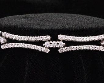 Vintage, Designer Bracelet, Diamond, 18k, White Gold, Gold