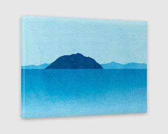 Beach Decor Canvas Art, Ocean Art, Canvas Art Abstract Landscape, Large Wall Art
