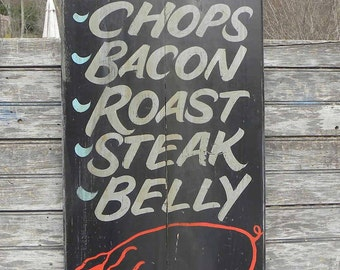 Butcher Shop Trade   Sign, original, hand painted,  ZF BQ 5
