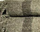 Wool Blanket Handwoven Gr...