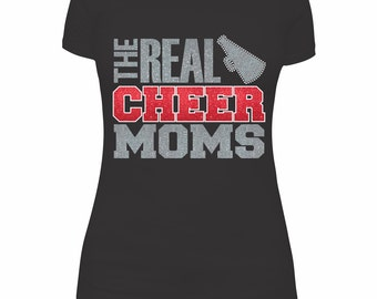 Real Cheer Moms SVG  and DXF Cut Files - Instant Download