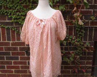 Vintage Pink Nightgown Cape