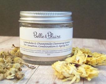 Calendula & Chamomile Cleansing Grains- Natural Facial Cleasnser- Vegan- Plant Based Organic Skin Care- 2oz