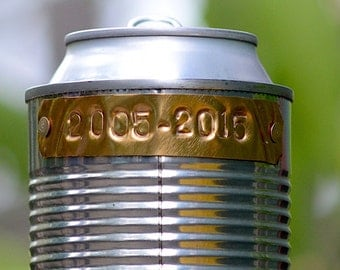 2nd Label for Hobo Tin Can Beer Holder, Additional Label for Personalized Hobo Drink Holder Order, ADD-ON ONLY