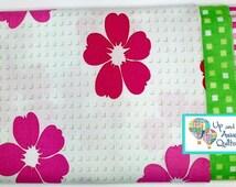 Pillowcase Kit - Bandana Bright Pink Flowers