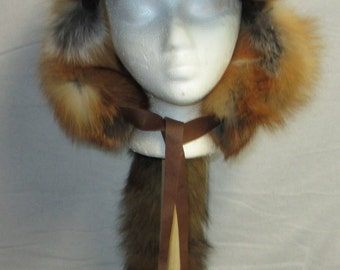 Red Fox with Leather Brim