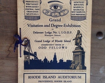 OddFellows Grand Visitation and Degree; 1934 paperback