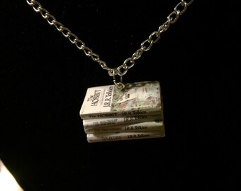 Tolkien Mini Book Stack Necklace